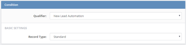 Condition New Lead Automation