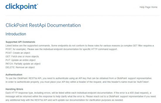 Rest API Documentation